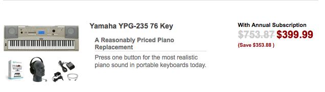 Yamaha 76 Key